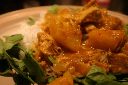 Pineapple Coconut chicken Curry