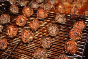 meatballs out of the oven