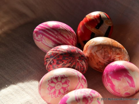 Beautiful Silk-dyed Easter Eggs
