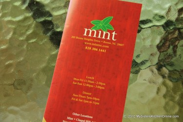 Menu for Mint (Indian Restaurant)