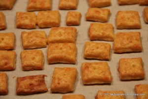 Perfectly baked homemade cheese crackers