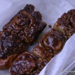 Oh mercy, those aren't vegetables! Those are pecan sticky buns from the Watauga Farmer's Market