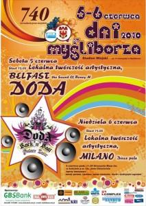 Plakat dni Myśliborza 2010 - DODA