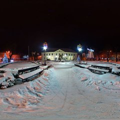 Świąteczna iluminacja – panorama