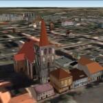 Kolegiata i rynek w 3D zdjęcie pochodzi z programu Google Earth