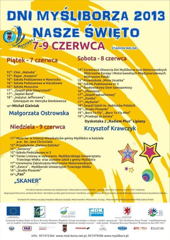Program Dni Myśliborza 2013