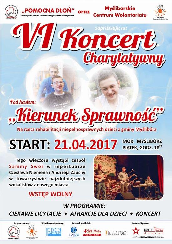 plakat koncertu charytatywnego Pomocna Dłoń 2017
