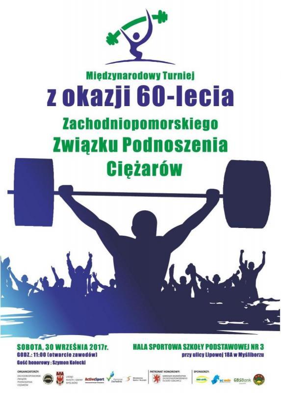 plakat międzynarodowego turnieju podnoszenia ciężarów