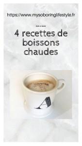 4 recettes de boissons chaudes collage