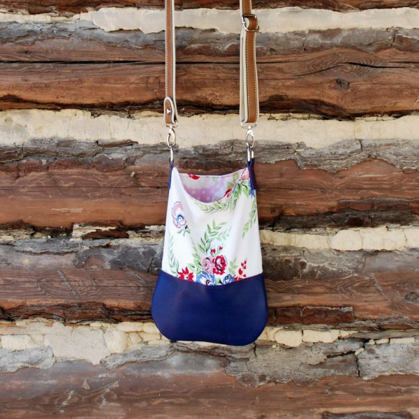 upcycled tablecloth tote