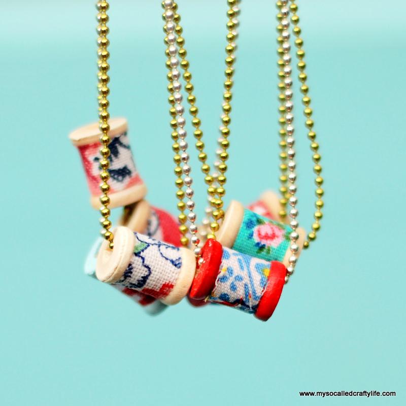 dainty spool necklaces