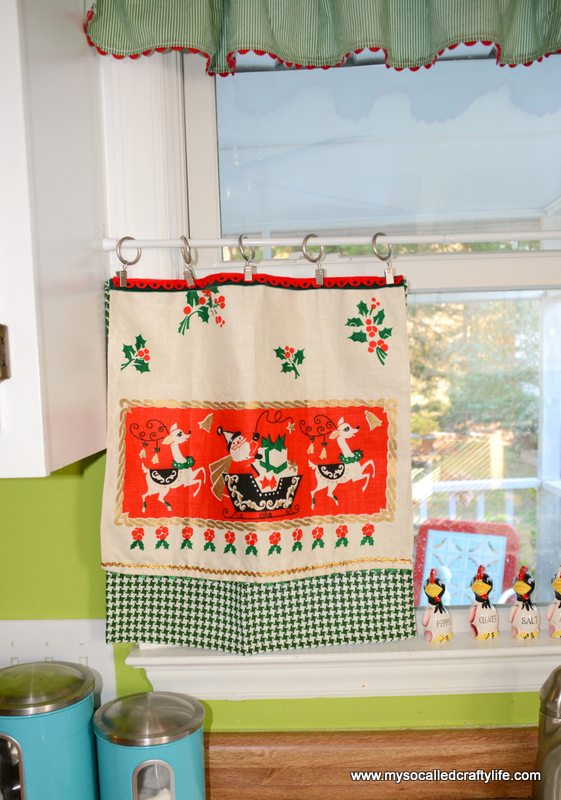how to make kitchen curtains from tea towels
