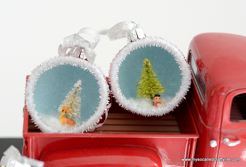 Christmas Diorama Ornaments.Diy Vintage Inspired Diorama Ornaments My So Called Crafty