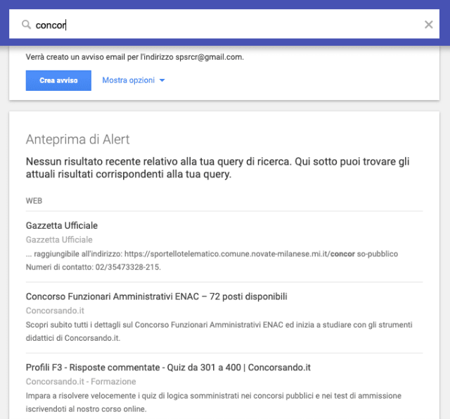 Follow trends with Google Alert
