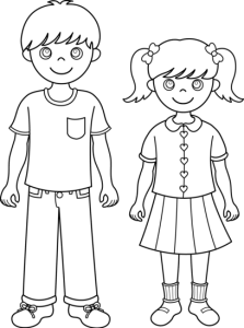 siblings_line_art