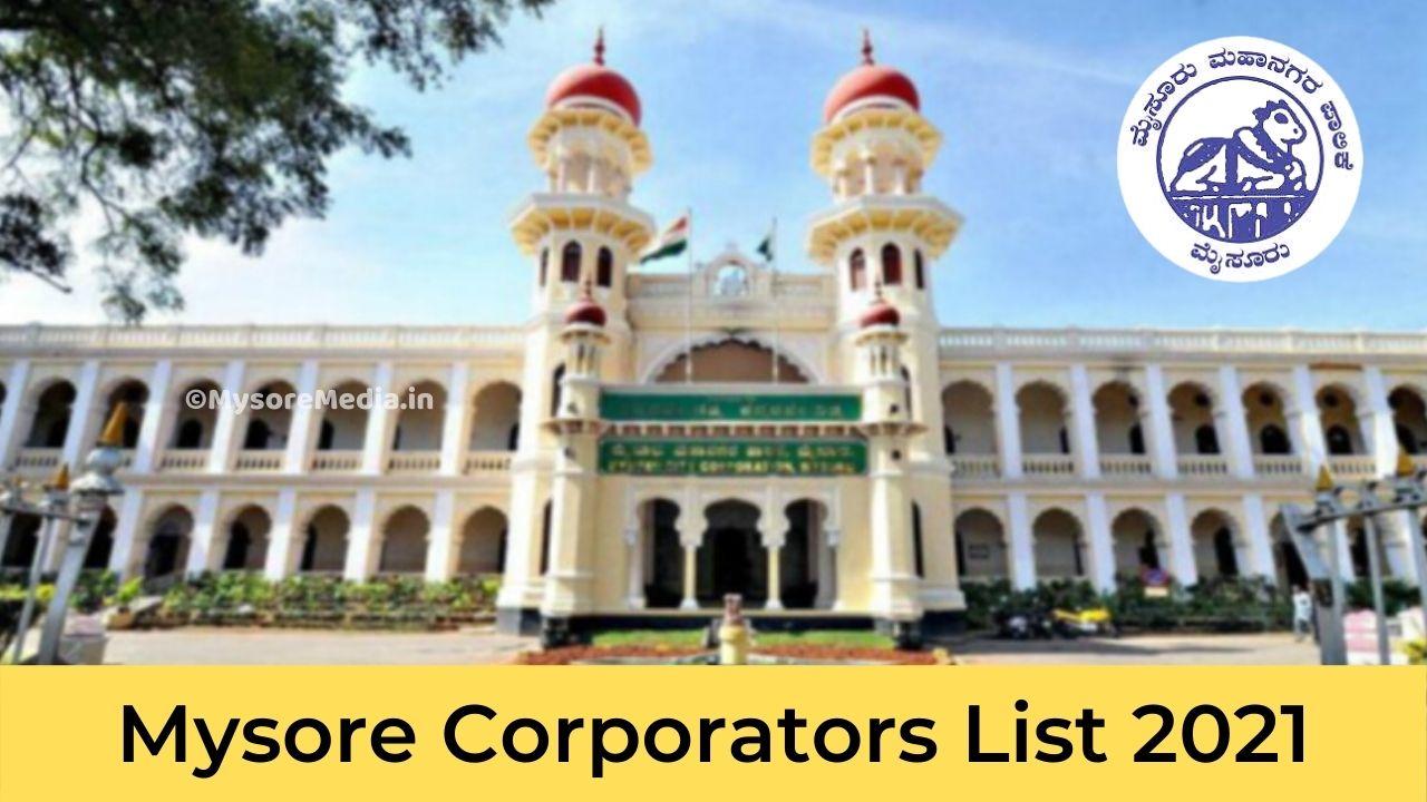 Member of Mysore City Corporation 2021
