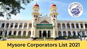 Member of Mysore City Corporation 2021