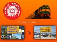 Bangalore To Mysore Train Timings and Price
