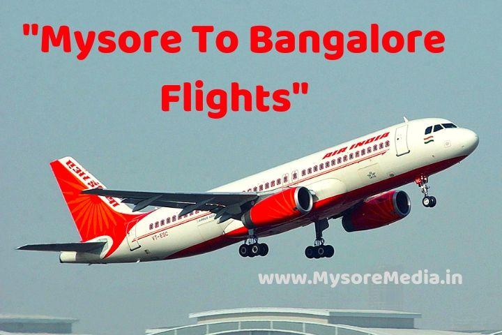 Mysore To Bangalore Flight | Schedules | Online Booking