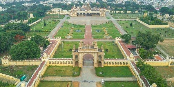 Mysore Palace Aerial View