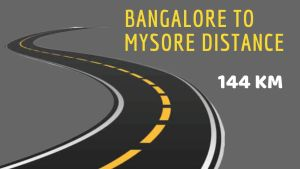 Bangalore to Mysore Distance