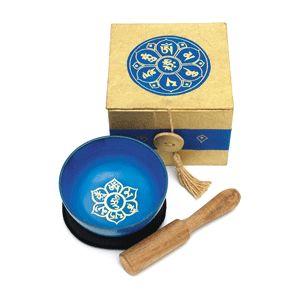 yoga klangschale blue