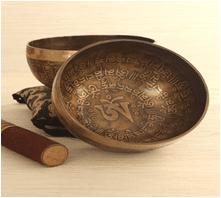 hand made tibetan singing bowl