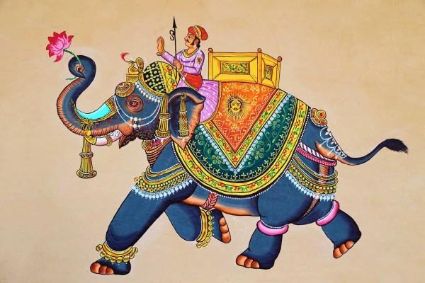 royal tusker wall painting