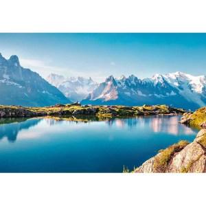 Le lac blanc chamonix Canvas art