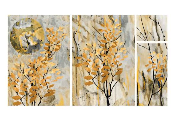 Golden Leaves Canvas art
