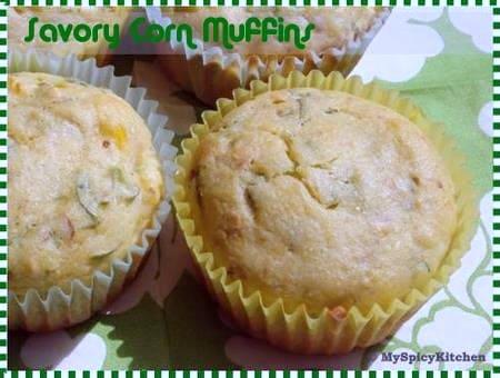 Savory corn muffin