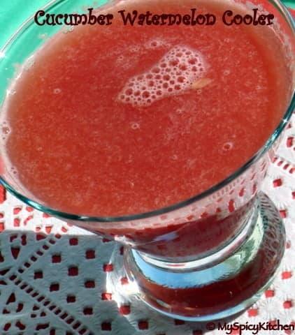 cucumber watermelon cooler, Tarla dalal