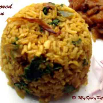 Flavored brown rice