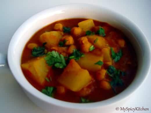 radish chickpeas curry