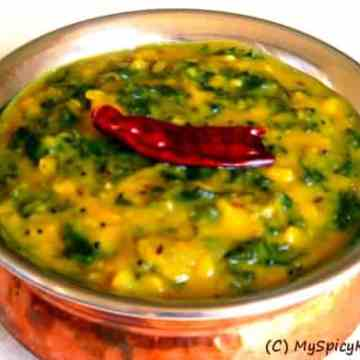 Kale dal, indian dal, kale recipe