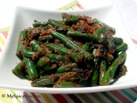 Fenugreek Green Beans Stir Fry, Methi green beans stir fry