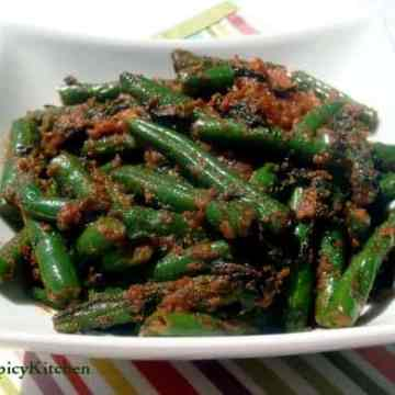 Fenugreek Green Beans Stir Fry, Methi green beans stir fry