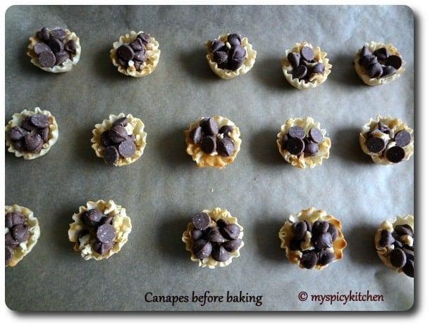 Chocolate Mela, Blogging Marathon, Chocolate Canape