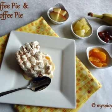 Banoffee pie, fruit toffee pie, banana toffee pie