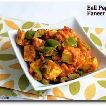 Paneer capsicum curry, kadai paneer, dish it out