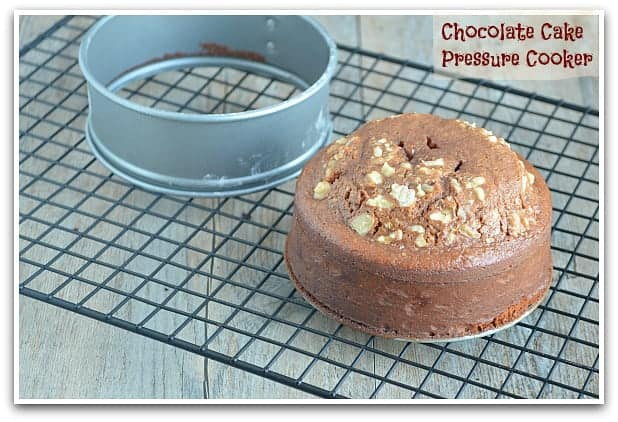 Pressure Cooker Recipe, Eggless Chocolate Cake, Blogging marathon