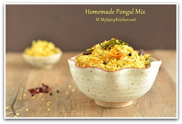 Khichdi Mix, Instant Pongal Mix, Homemade Khichdi Mix, Blogging Marathon