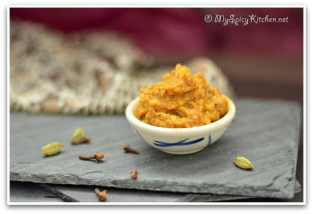 Onion masala paste, masala paste for curries, onion tomato paste, curries, kitchen basics, blogging marathon