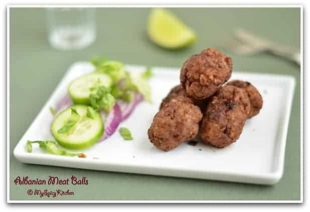 Albanian Meat Balls, Fried Meat Balls, Lamb Meat Balls, Lamb Qofte, Blogging Marathon, Albanian National Dish
