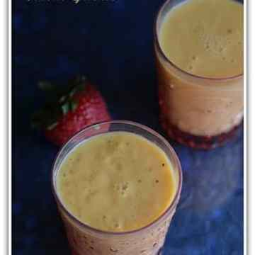 Mango Strawberry Milkshake