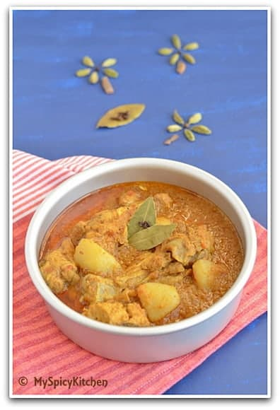 Bangladeshi Chicken Curry, Bangla Cuisine, Bangladeshi Food, Chicken Curry, Around the world in 30 days with ABC cooking, Blogging Marathon