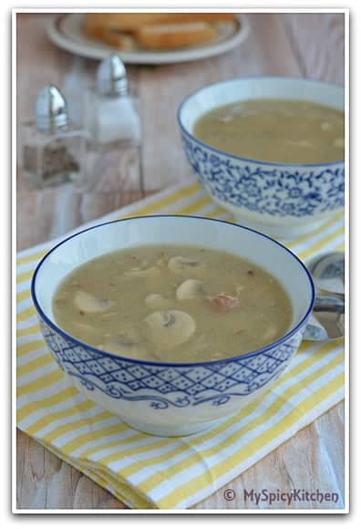 Houbova Polevka myslivecka, Czech Food, Czech Cuisine, Blogging Marathon, Around the world in 30 days with ABC cooking,