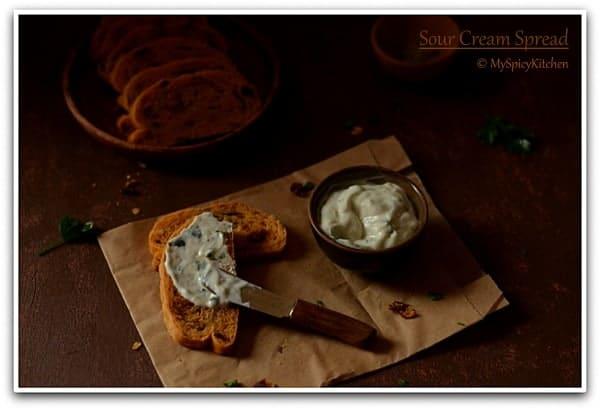 Sandwich Spread, Sour Cream Dip, Blogging Marathon