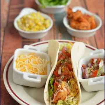 Blogging Marathon, Dishes with Tortillas, Mexican Food, Mexican Cuisine, Shrimp Corn Tacos