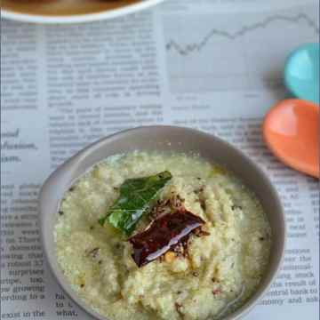 Kobari Pachadi, Kobari chutney, Coconut pachadi, blogging marathon, buffet on table,